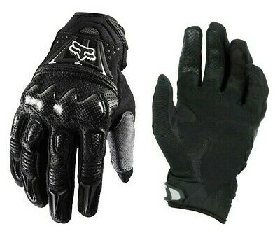 Short Leather Knuckle Protection Bomber Motorbike Motorcycle Gloves Summer