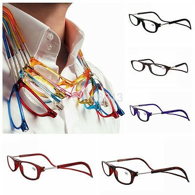 Multicolor 5Colors Frame Magnet Readers Reading Glasses Easy Hang Neck +1.0~+4.0