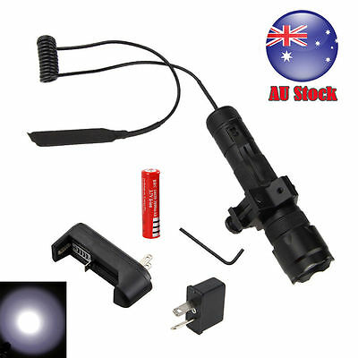 Tactical 5000LM XML T6 LED Hunt Flashlight Torch Light Gun Mount + Remote Switch