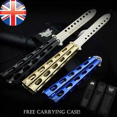 Butterfly Knife Metal Steel Balisong Trainer Practice Tool /w FREE CARRYING CASE