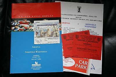 Arsenal v Sheffield Wednesday 1993 FA Cup Final Replay Programme/Teamsheet/Stub