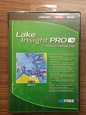Lowrance 000-12596-001 Lake Insight PRO High-Definition Lake Maps V16 Chart Card