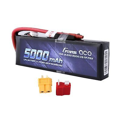 Traxxas 5000mAh 11.1V 3S 50C LiPo Battery Pack by Gens ace
