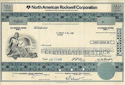 North American Rockwell Corporation, 1971 (50 Shares)