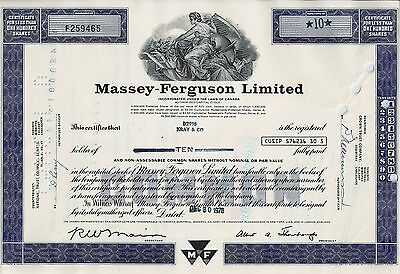 CANADA - Massey - Ferguson Limited 1976 (10 Shares)