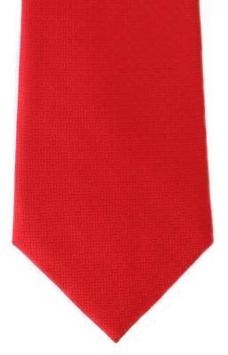 Michelsons of London Basket Weave Silk Tie - Red