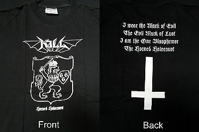 "KILL ""Horned holocaust"" XL T-shirt Watain Darkthrone Mayhem Katharsis Moonblood"