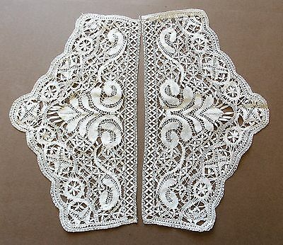 Vintage Edwardian Hand Made Cream Cotton Lace Collar Circa 1910