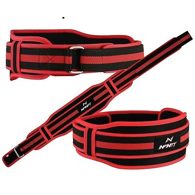 Weight Lifting Gym Fitness Red Neoprene Belt Training Back Support Body Building