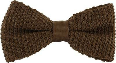 Michelsons of London Silk Knitted Bow Tie - Brown