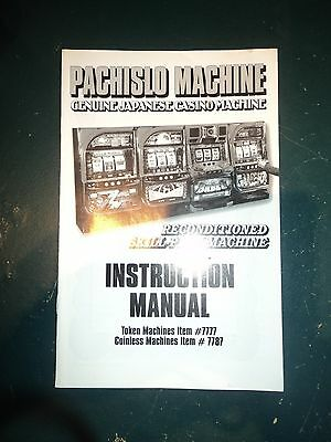 Pachislo Manual, Printed, Original Pachislo Manual Great Information