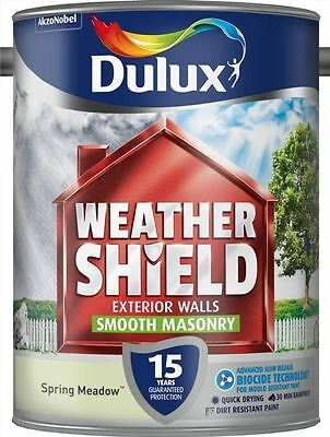 Dulux Weathershield Exterior Smooth Masonry Paint 5L Spring Meadow