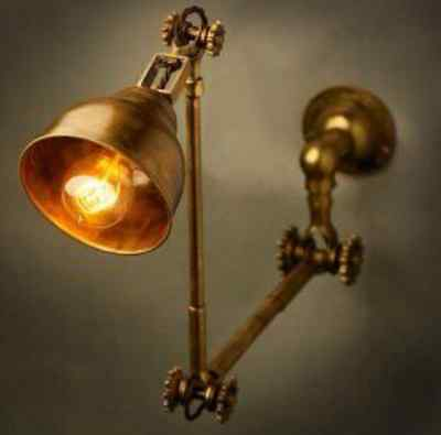 New Marine Nautical Brass Stretchable Lamp- Industrial Look- Ship Salvaged!