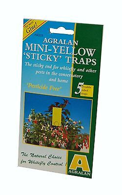 Agralan Mini Yellow Sticky Traps To Catch Flying Insect Pests Pack Of 5