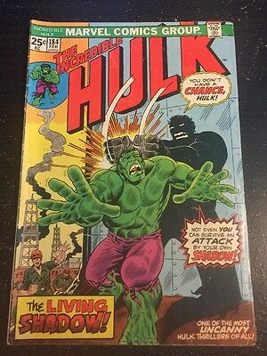 Incredible Hulk#184 Awesome Condition 5.5(1974) Warlord Kaa App, Shadow!!