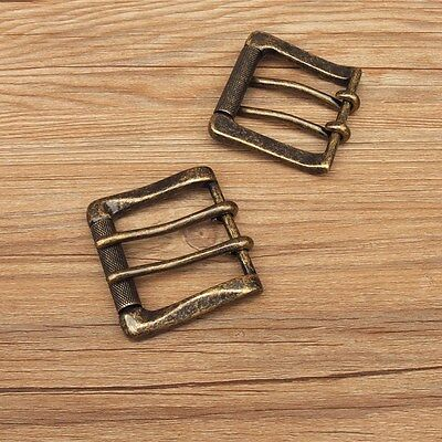 DIY Johnleather Craft  Double Pins Roller Belt Buckle BAR Finish # 6010501-T40