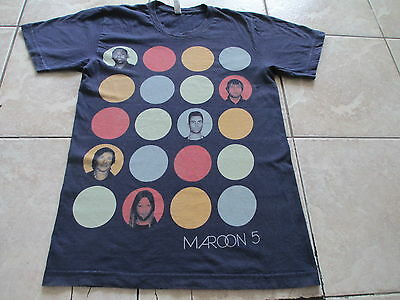Maroon 5 North America Tour 2013 Navy Blue Red Green T Shirt S Small M Medium
