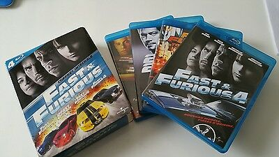 Coffret Blu Ray - Fast & Furious 1 A 4