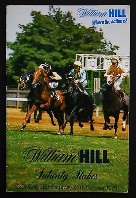 Race Card Doncaster 27th October 1979 Hello Gorgeous Henry Cecil Joe Mercer