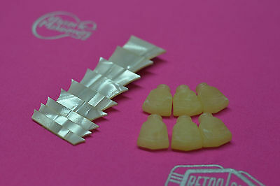 Cellulose Nitrate Inlays Les Paul 1959 Style Trapezoid + Tuner Tips Kluson