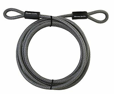Master Lock Cable Wire 15 Feet Braided Steel Locking Truck Bicycle Cart Rope