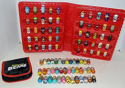 Assorted Mighty Beanz . with case Marvel ,Moose Disney , 2 special edition beans