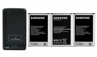 New 3200mAh Battery + Wall Charger for Samsung Galaxy Note 3 N9000 N9005 N9008