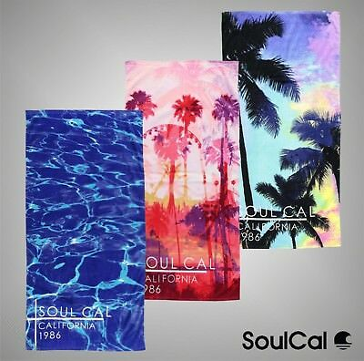 Unisex Branded SoulCal Summer Bright Print Pool Beach Towel 143cm x 73cm