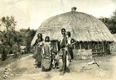 1950 postcard Native Family South Africa