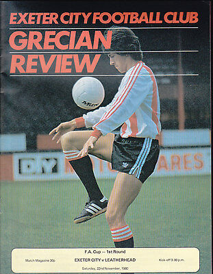 1980/81 EXETER CITY V LEATHERHEAD 22-11-1980 FA Cup 1st Round