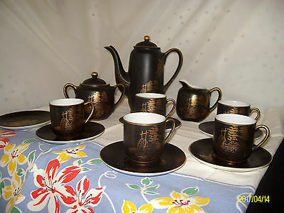 VINTAGE JAPANESE  PORCELAIN TEA SET 14 pc geisha lady