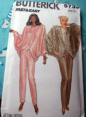 Oop Butterick 5733 loose fitting caftan draped top pants size 6-10 NEW