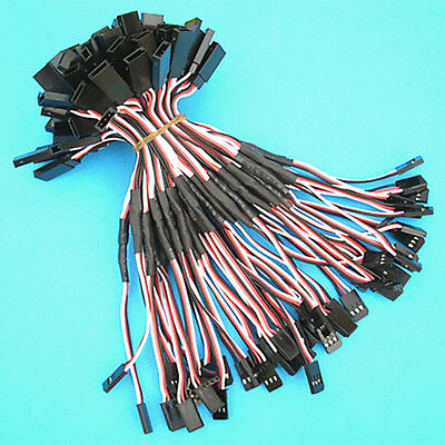 50 Pcs 15cm Servo Receiver Extension Cord Y Cable 26awg wire For JR Futuba