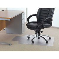 Cleartex PVC Chair Mat Carpet Lipped 1200 x 900mm Clear 119225LV