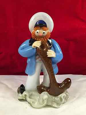 Fine  Art Glass Collectible Sailor Figurine Hand Made European Czechoslovakia ""