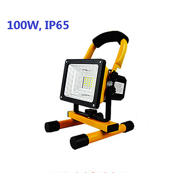 100W 4H Rechargeable LED Flood Light Portable Waterproof Caravan Camping Light