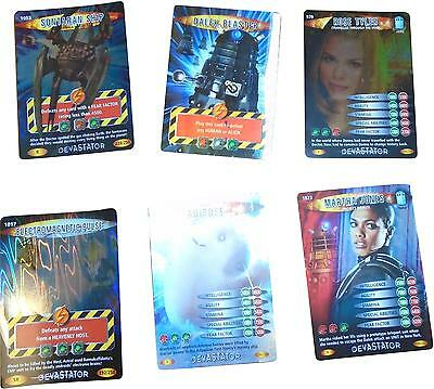 USED Doctor Who Battles In time Card Game Set Of 6 Unique Cards (D.T)