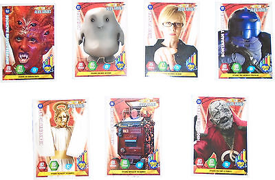 USED Panini Doctor Who Alien Armies Card Game Set Of 7 Cards (D.T)