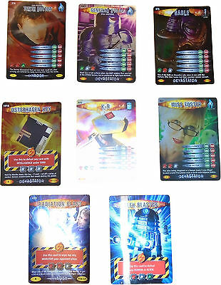 USED Doctor Who Battles In time Card Game Set Of 8 Unigue Cards (D.T)
