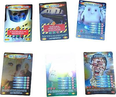 USED Doctor Who Battles In time Card Game Set Of 6 Cards (D.T)