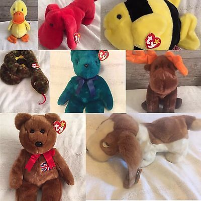 Original Ty Beanie Buddy - Choice of 8 - All retired with tags!