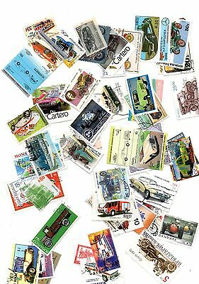 Road Transport stamp mix - 50 different