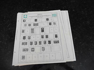 F34 Lot of Greece Greek stamps 1861-1962 Hinged in 8 Minkus Album Pages