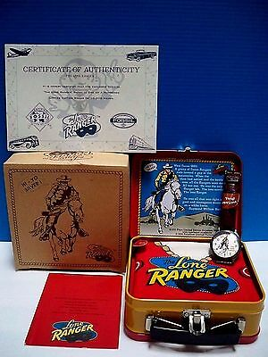 Vintage Lone Ranger Fossil Wrist Watch, Bandana, Mini Lunch Box, Tags, Coa , Nib