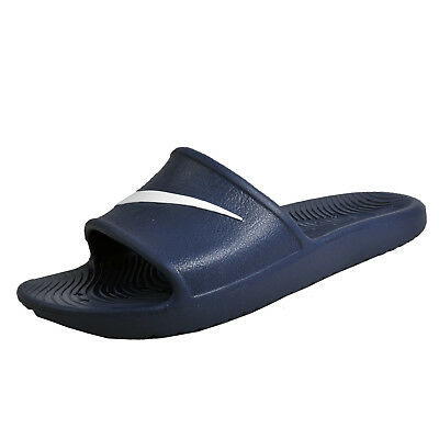 276b49dcaa02 Nike Kawa Mens Slides Casual Slip on Summer Flip Flop Beach Shower Sandals  Navy
