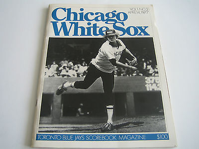 1977 April Vintage Toronto Blue Jays/white Sox Volume 1 No. 2 Scorebook Magazine