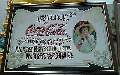 Coca-Cola - Maxi Specchio Dipinto Incorniciato - International Shipping