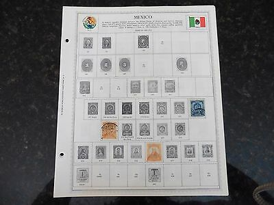 F09 Lot of Mexico stamps 1863-1963 Hinged in 7 Minkus Album Pages