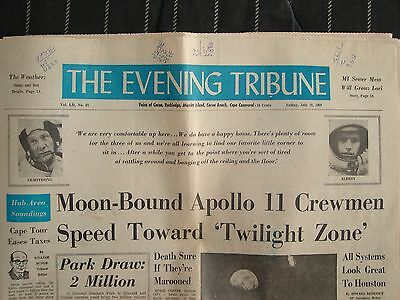 The Evening Tribune July 18,1969 Vol 82 Moon-Bound Apollo 11 from Cape Canaveral