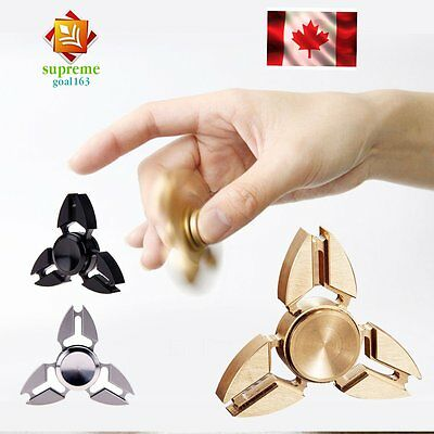 Fidget Hand Spinner Tri bearing Aluminum Metal Alloy EDC Toy Gyro Stress Relief